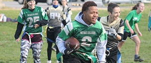 Flag Football at Sage College of Albany