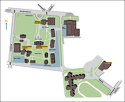 Albany Campus Map
