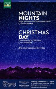 Sage Singers December 2016 Concert Poster