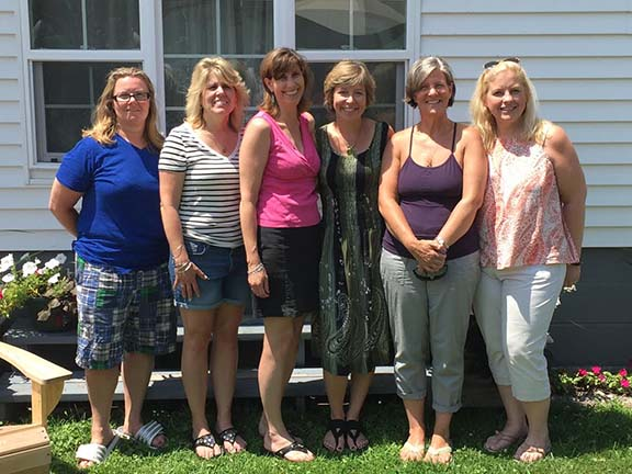 Some Golden Horseshoes congregated in Troy last summer when Lori Johnson visited from Colorado. Pictured are Michelle Crowley, Sue Hamelin-Kaznay, Jane Taubner Barney, Lori O'Brien Johnson, Susie Baumann Anthony and Elaine Reffner Teeters.