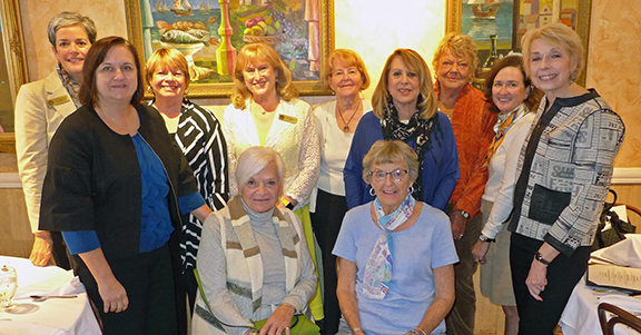 Alumnae gathered at Columbia Restaurant in Sarasota, FL, in January for lunch with President Susan Scrimshaw.