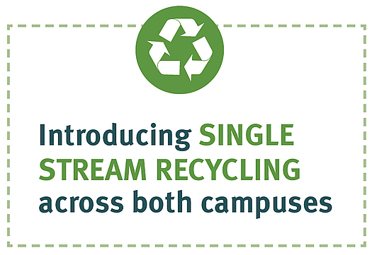 Introducing single-stream recycling across both campuses.