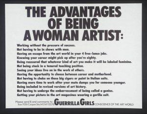 The Advantages of Being a Women Artist (Guerrilla Girls)