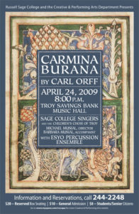 Sage Singers Carmina Burana 2009