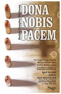 Sage Singers Dona Nobis Pacem 2012