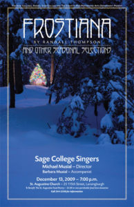 Sage Singers Frostiana 2009