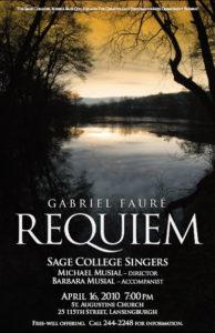 Sage Singers Requiem 2010