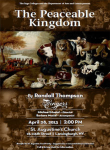 Sage Singers The Peaceable Kingdom 2013