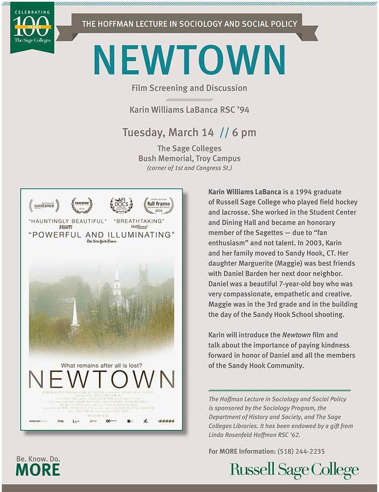 Newtown Film Screening Flier