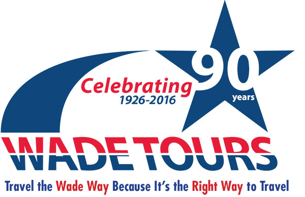 Wade Tours 90 Years Logo