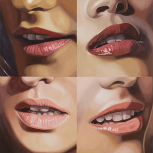 The Mouths of Four Gorgons by Julia Jacquette