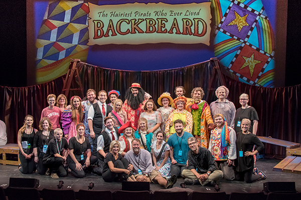 The cast and crew of Backbeard: The Musical in New York City