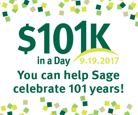 $101K in a Day - You can help Sage celebrate 101 years!