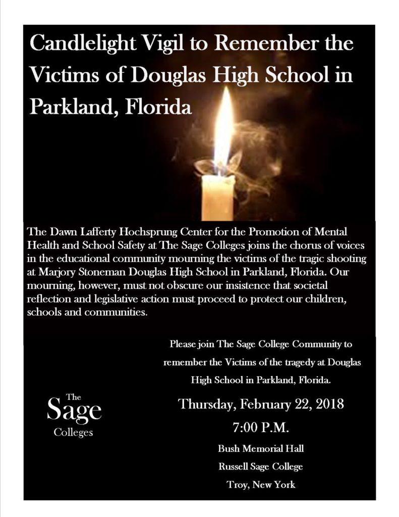 Hochsprung Candlelight Vigil Flyer