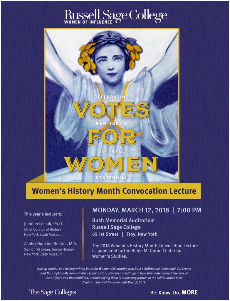 2018 Women's History Month Convocation Lecture Poster