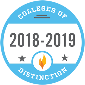 Colleges of Distinction badge.