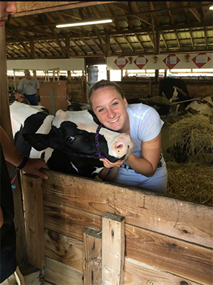 Danielle Stannard and her calf, Flawless.