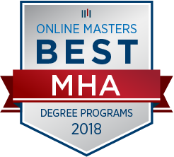 Badge for Best Online Master's Degree in Health Services Administration