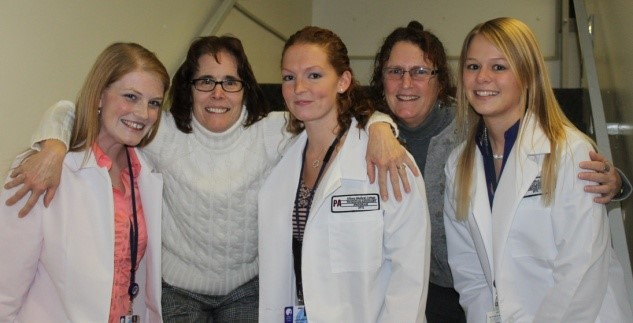 Dr. Mary Rea. Dr. Susan Jenks with students.