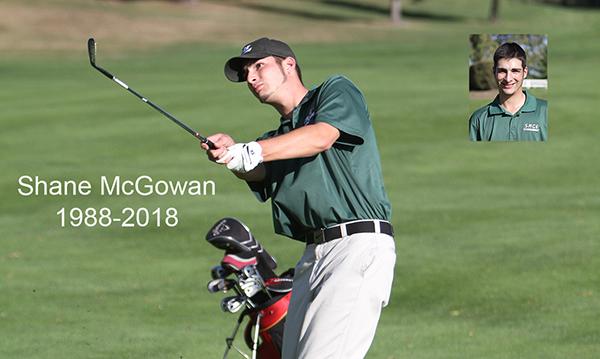 Shan McGowan golfing