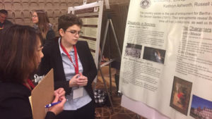 Kathryn Ashworth presents research at the National Collegiate Honors Council conference