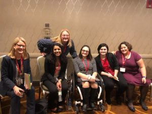 Faculty and students who participated on a roundtable at the National Collegiate Honors Conference
