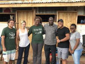 Dr. Emilly Obuya's with students in Kenya
