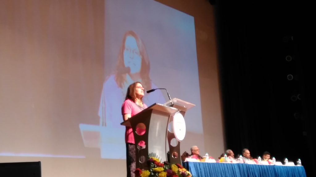 Pam Katz at Christ University in India