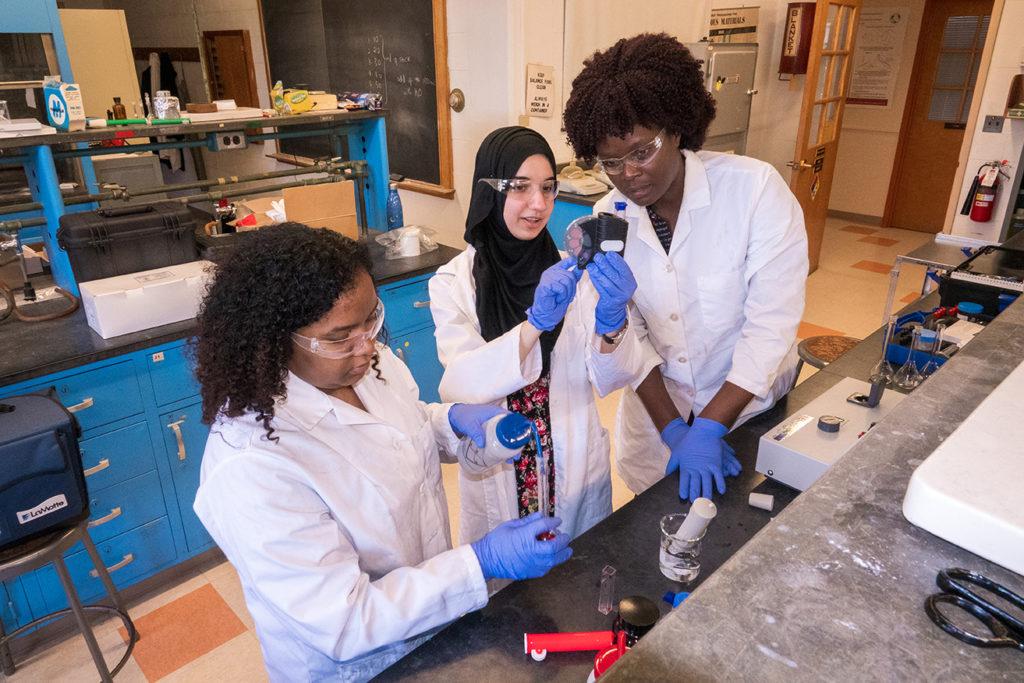 Jahsel Ashby, Khadija Rafiqi and Professor Emilly Obuya