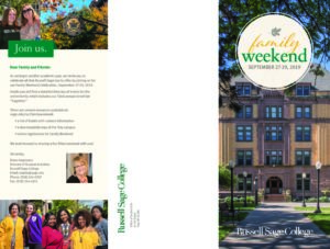 Russell Sage College Family Weekend brochure cover