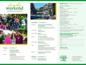 Russell Sage College Family Weekend poster