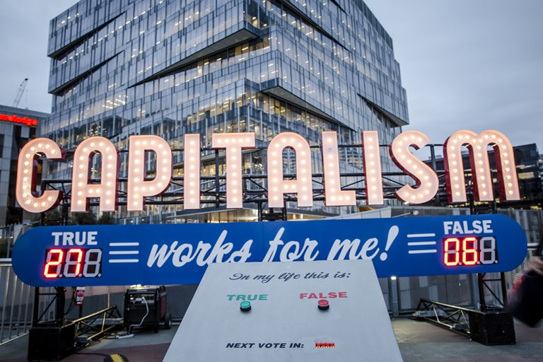 image of Capitalism Works for Me by Steve Lambert