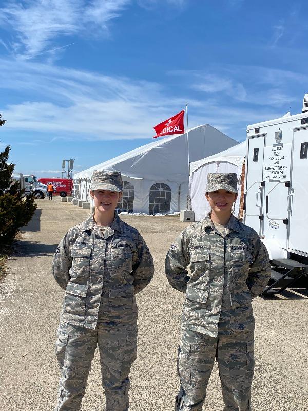 Staff Sergeant Sarah Silvernail and her colleague SrA Blauvelt