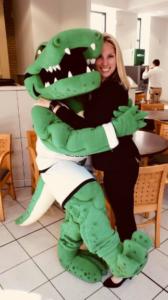 Erin Menzer with the Sage Gator