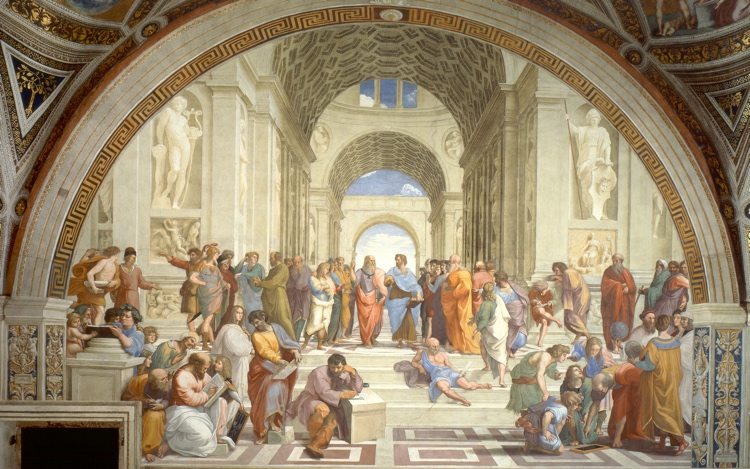 Raphael painting school of Athens