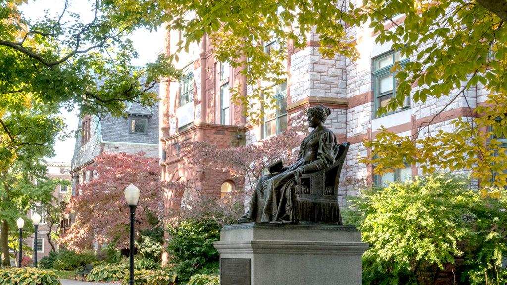 Emma Willard statute on the Troy campus